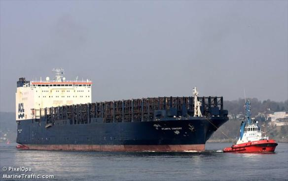Das RoRo-Frachtschiff Atlantic Concert